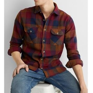 Report Collection Heritage waffled plaid shirt NWT